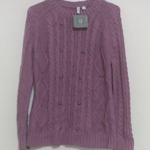 Relativity New Purple Sweater SZ: Large